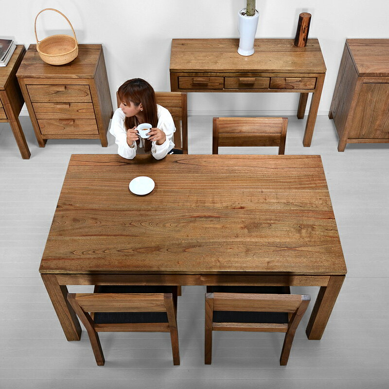 Mindy Dining Table Asian Furniture Asian Table Wood Solid Simple Modern  Dining Table Café Scandinavia 6 People For 4 People For 2 People For