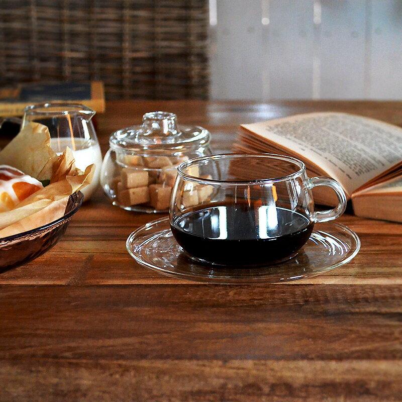 UNITEA カップ&ソーサー コーヒーカップ ティーカップ 食器 しょっき ブランド食器 ガラス ガラス製 おしゃれ デザイン シンプル かわいい ガラス食器 ワイン カラフェ ジュース KINTO キント 食器洗浄対応 電子レンジ対応 耐熱ガラス ガラス 皿付き