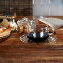 UNITEA カップ&ソーサー コーヒーカップ ティーカップ 食器 しょっき ブランド食器 ガラス ガラス製 おしゃれ デザイン シンプル か…