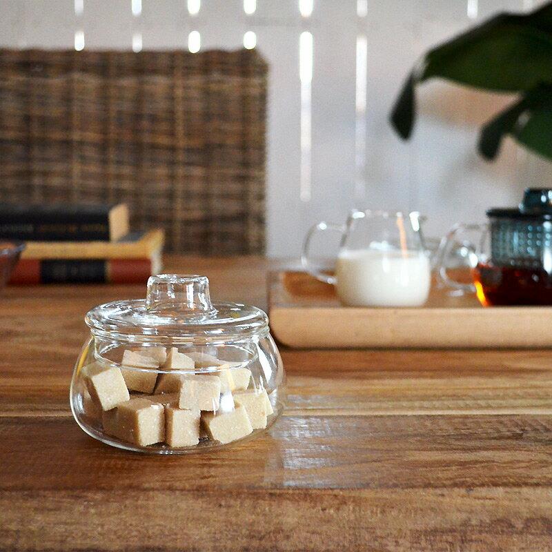 UNITEA シュガーポット 砂糖入れ 小物入れ 食器 しょっき ブランド食器 ガラス ガラス製 おしゃれ デザイン シンプル かわいい ガラス食器 ワイン カラフェ ジュース KINTO キント 食器洗浄対応 電子レンジ対応 耐熱ガラス ガラス