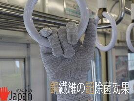 接触予防 手袋 日本製 銅繊維 コロナ対策 抗菌 除菌 感染予防 レディース 薄手 1双