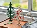 【最大2000円クーポン配布中】lovi クリスマスツリー 25cm 木製 2色