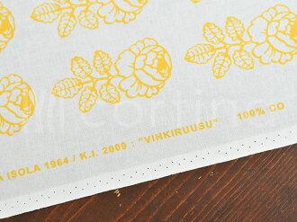 マリメッコ生地10cm単位切り売りヴィキルースヴィヒキルースmarimekkoVIHKIRUUSUイエロー|ファブリック北欧布布地テキスタイルおしゃれかわいい