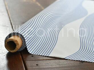 ◇テーブルクロス北欧生地撥水加工ローゼンバーグコペンハーゲンリバーRiverブルーRosenbergCph撥水加工生地10cm単位で切売りテーブルクロス生地北欧生地布布切売り