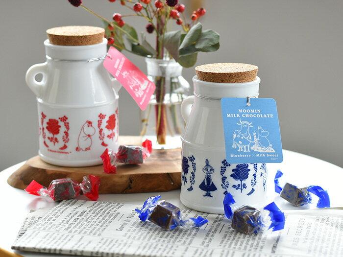 ◇ ムーミン ブルーベリーチョコレート ラズベリーチョコレート ギョク硝子 瓶入り 【ギフト】