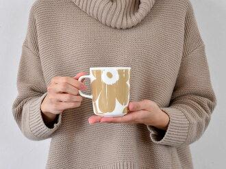 マリメッコマグカップウニッコ北欧デザインmarimekkoUNIKKOベージュコーヒーカップ食器北欧北欧食器【ギフト】