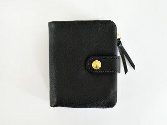 サンク2つ折り財布レザーブラックダークブラウンキャメル