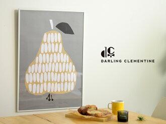 DARLINGCLEMENTINE(ダーリン・クレメンタイン)Pear(洋なし)ポスター50×70cm