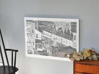 ◇ポスター北欧ファインリトルデイHUSFineLittleDay50×70cmインテリア北欧デザイン