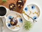 marimekkoマリメッコUNIKKOプレートお皿ベージュ×ブルー北欧北欧食器【ギフト】