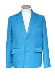 【春SALE価格】 コスプレ ジャケット【テーラードジャケット】青 ブルー【S〜LL】コスプレ衣装 衣装 カラー ブレザー 無地 スーツ アパレル(4000-1-bl)