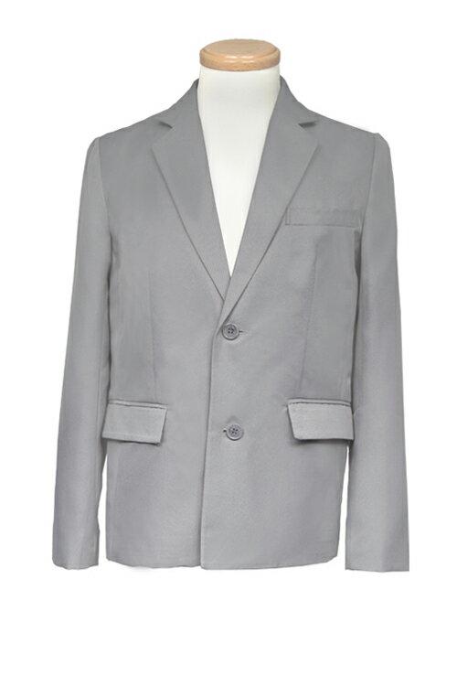 コスプレ ブレザー【テーラードジャケット】灰色 グレー【S〜LL】制服コスプレ 衣装 ブレザー 無地 カラー スーツ アパレル(4000-1-gy)