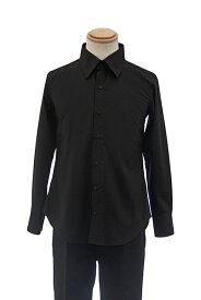 【春SALE価格】 カラーワイシャツ【黒 ブラック】【S〜LL】コスプレ 衣装 シャツ 無地 カラーシャツ アパレル