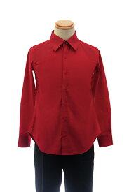 カラーワイシャツ【レッド 赤】【S〜LL】コスプレ 衣装 シャツ 無地 青 カラーシャツ アパレル