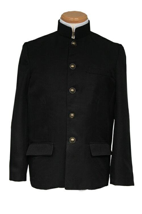 学ラン コスプレ【黒 ブラック】 【S〜LL】コスプレ衣装 制服 学生服 上着 男装 アパレル(4000-2-bk)