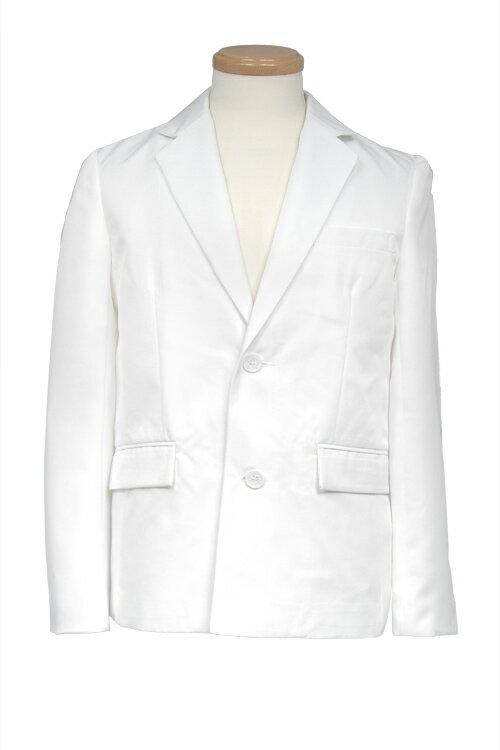コスプレ 衣装【テーラードジャケット】白 ホワイト【S〜LL】コスプレ制服 衣装 ブレザー 無地 スーツ アパレル(4000-1-wh)