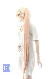 バンス 105cm【ピーチクリーム】 耐熱 コスプレ ウィッグ (ba-by0032)