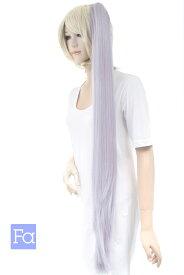 バンス 105cm【パステルパープル】 ウィッグ つけ毛 ポニテ ポイントウィッグ エクステ 耐熱(104 ba-t3412)