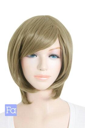【スフレブラウン】ショートボブ【高温耐熱!!高品質コスプレ★フルウィッグ/wig】