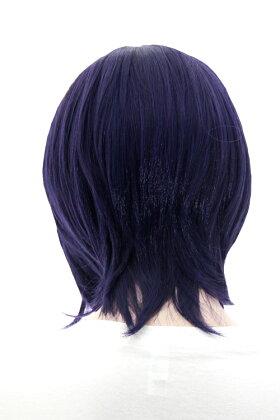 ウィッグ【紺桔梗】ショートボブ【高温耐熱!!高品質コスプレ★フルウィッグ/wig】
