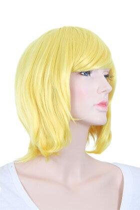 155【ブロンズゴールド-Charmant-】ショートボブ【アレンジ加工向きコスプレ耐熱フルウィッグ/wig】