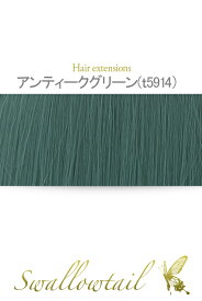 毛束 70x100cm【アンティークグリーン】耐熱 加工用ウイッグ (ex-t5914)