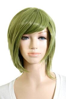 Rei Short yeah costume play wig short wig green heat resistance (la-bg0045)