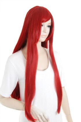 【レッド】ロングストレート【高温耐熱!!高品質コスプレ★フルウィッグ/wig】