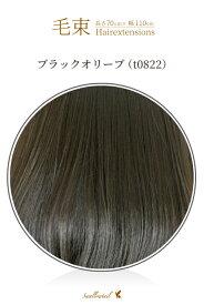 毛束 70x100cm【ブラックオリーブ】耐熱 エクステ(ex-t0822)