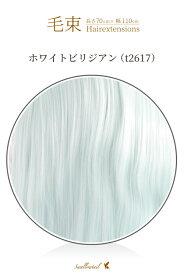 毛束 70x100cm【ホワイトビリジアン】耐熱 加工用ウイッグ(098 ex-t2617)