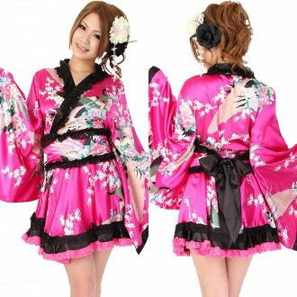 Cosplay sexy kimono yukata kimono dress green kimono mini long-off shoulder Japanese pattern dress cavadores water Halloween costume cheap store costume kimono dress events cosplay kimono dress water
