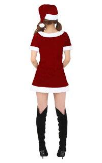 クリスマスサンタトナカイサンタコス可愛いワンピースドレスパーティーイベントサンタクロースセクシー大人仮装コスプレコスチューム衣装