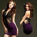 セクシードレス ミニ ドレス 紫 ナイトドレス キャバドレス パーティドレス ワンピース ワンピ セクシー コスチューム…