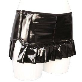 シャイニングエナメルプリーツスカート おとこの娘用 コスプレ 可愛い 大きいサイズ インナー アクセサリー 男女兼用 レディース メンズ ハロウィン 女装 男の娘 余興 仮装 大人 コスチューム 衣装