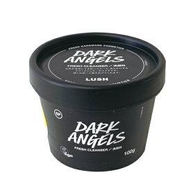 ☆【LUSH】【ラッシュ】ブラックダイヤ Dark Angels 100g洗顔料 フェイスケア ボディケアスクラブ 角質オーガニックアボカドオイルローズウッドとサンダルウッドの香り