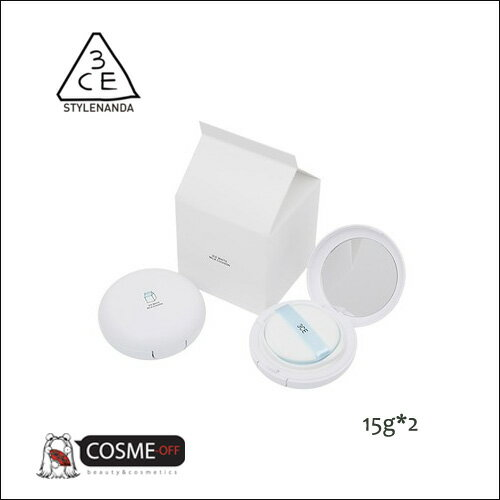 3CE/スリー シー イー ホワイト ミルク クッション デュオ 15g*2 SPF50+ PA+++ (3165211102001)