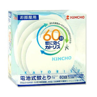 KINCHO모기에 효과가 있는 카트리스방용 60일 화이트 세트