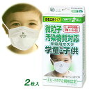 【送料込】FFP2 微粒子汚染物質対応 PM2.5 呼吸用マスク 学童・子供用 2枚入り 立体密着タイプ(災害対策マスクオーバ…