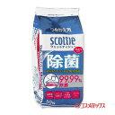 5%還元 【送料込】除菌 アルコールタイプ ウェットティシュー つめかえ用 80枚入 スコッティ(scottie) 日本製紙クレシア【送料無料】
