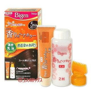 ビゲン 香りのヘアカラー 乳液 白髪用早染めタイプ 5NA 深いナチュラリーブラウン hoyu Bigen