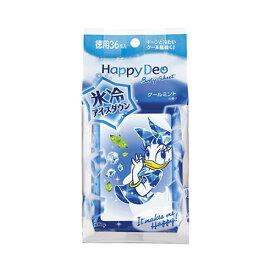 【価格据え置き】5%還元 ハッピーデオ(Happy Deo) ボディシート アイスダウン 36枚入 マンダム(mandom)