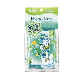 【価格据え置き】5%還元 ハッピーデオ(Happy Deo) ボディシート アイスダウン フルーツクーラーの香り 36枚入 マンダム(mandom)