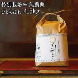 大分県竹田市産 ひとめぼれ 特別栽培米【無農薬】「てん米もり」4.5kg たなべ農園【送料無料】