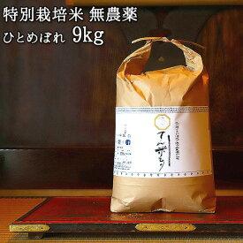 大分県竹田市産 ひとめぼれ 特別栽培米【無農薬】「てん米もり」9kg たなべ農園【送料無料】