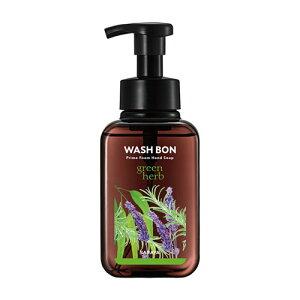 ウォシュボン(WASH BON) プライムフォーム グリーンハーブ 本体 500ml サラヤ(SARAYA)