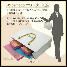 熊野筆メイクブラシ匠の化粧筆コスメ堂オリジナル手提げ紙袋ショッパ−ショップ袋