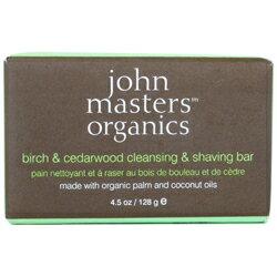 ジョンマスターオーガニック john masters organics バーチ&シダーウッド クレンジング&シェービング ソープ 128g