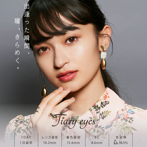 ティアリーアイズ Tiary Eyes 1day 10枚入(鈴木奈々 カラコン カラーコンタクト ワンデー 1day)