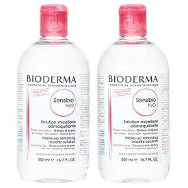 【セット】 ビオデルマ BIODERMA サンシビオ H2O エイチツーオー D 500mL 2本セット