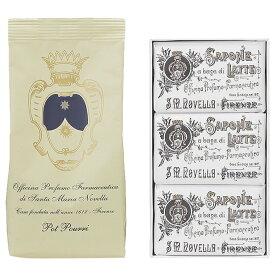 【セット】サンタマリアノヴェッラ Santa Maria Novella ミルクソープ3P ローズ 100g 3個 + ポプリ レフィル 100g